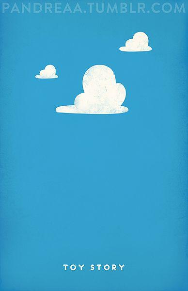 Toy Story: Minimalist Posters, Minimalist Disney, Disney Pixar Minimalist, Minimalist Toys, Disney 3, Disney Posters, Pixar Posters, Animal Movie, Minimal Movie Posters
