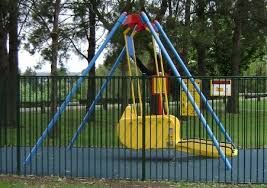 Singleton's Liberty Swing is located at Rose Point Park with the All Abilities Playground.