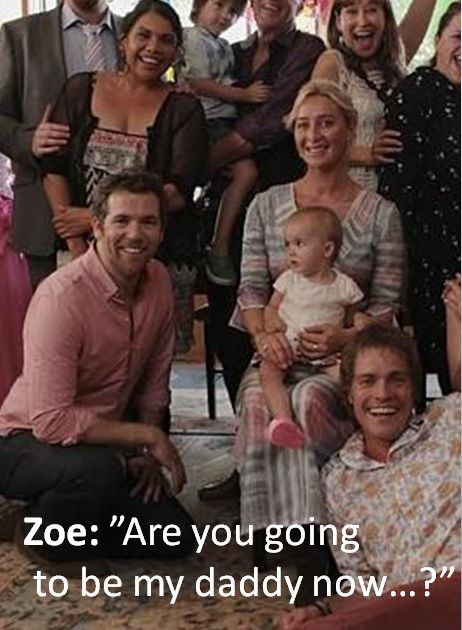 Offspring finale - Look at Zoe's look, I'm not sure she is very pleased …LOL