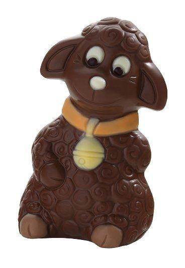 Dessine-moi un mouton en chocolat, De Neuville, Pâques 2011, Mouton au chocolat au lait - Chocolats de Pâques 2011, les oeufs de Pâques en chocolat des chocolatiers