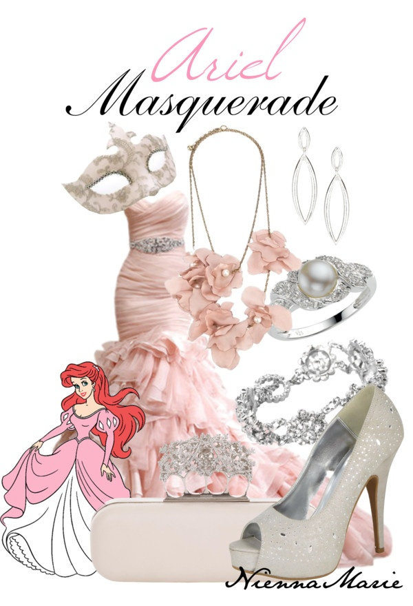 """""""Ariel Masquerade"""" by niennamarie ❤ liked on Polyvore"""