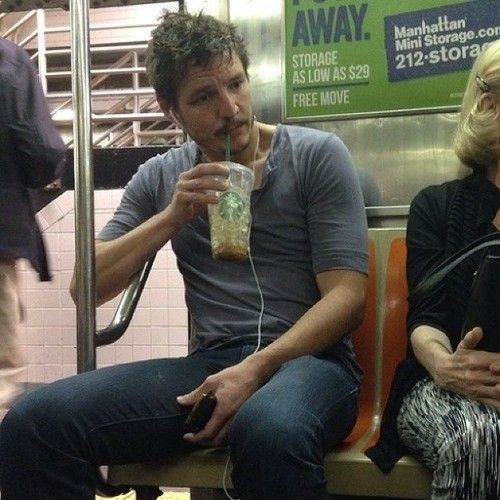 OMG!  Pablo Pascal, Prince Oberyn Martell (The Red Viper) Game of Thrones, on the subway.  Manhattan c. 2013.