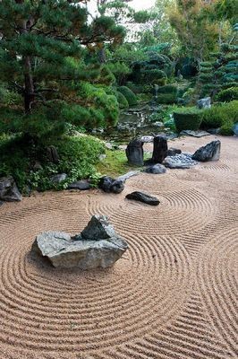 zen stone garden / repinned on toby designs