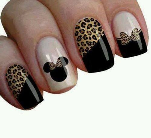 Fingernails2Go love these Mini Mouse meets Lion King Disney Nails #disneynailart
