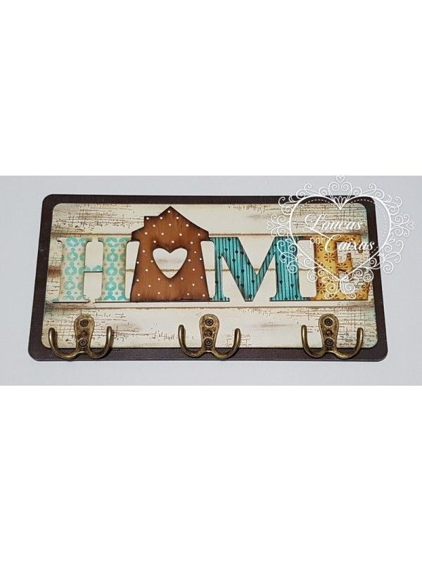 Kit Home - Placa + Texto - M ou G