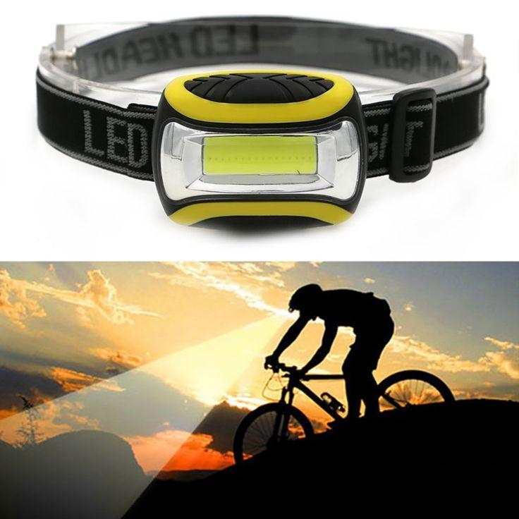 Mini 3 Mode Tahan Air COB LED Headlight Headlamp kepala cahaya lampu Torch Lanterna Senter outdoors dengan Headband AAA