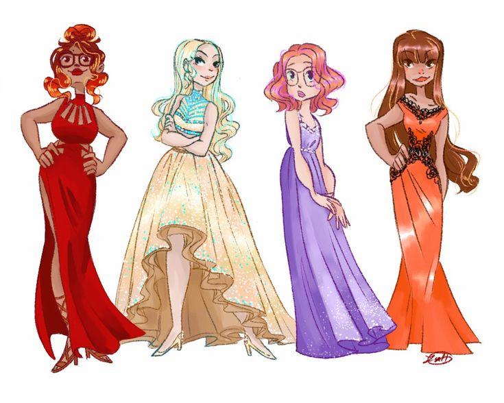 Ladies in fashion! (Miraculous LadyBug, Alya, Chloe, Sabrina, Lila)