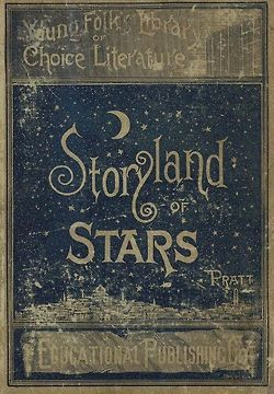 Vintage book cover, lovely curly fonts.: Covers Book, Storyland, Old Book,  Welcome Mats, Stories Book, Stars, By Mats, Vintage Book Covers, Children Book