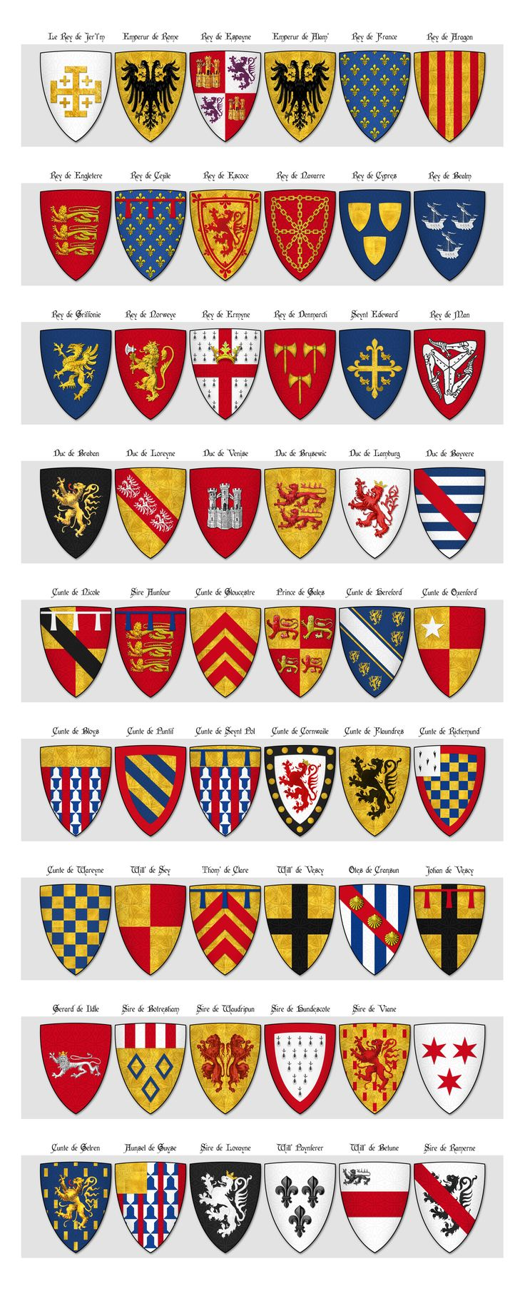 Risultati immagini per english medieval coat of arms