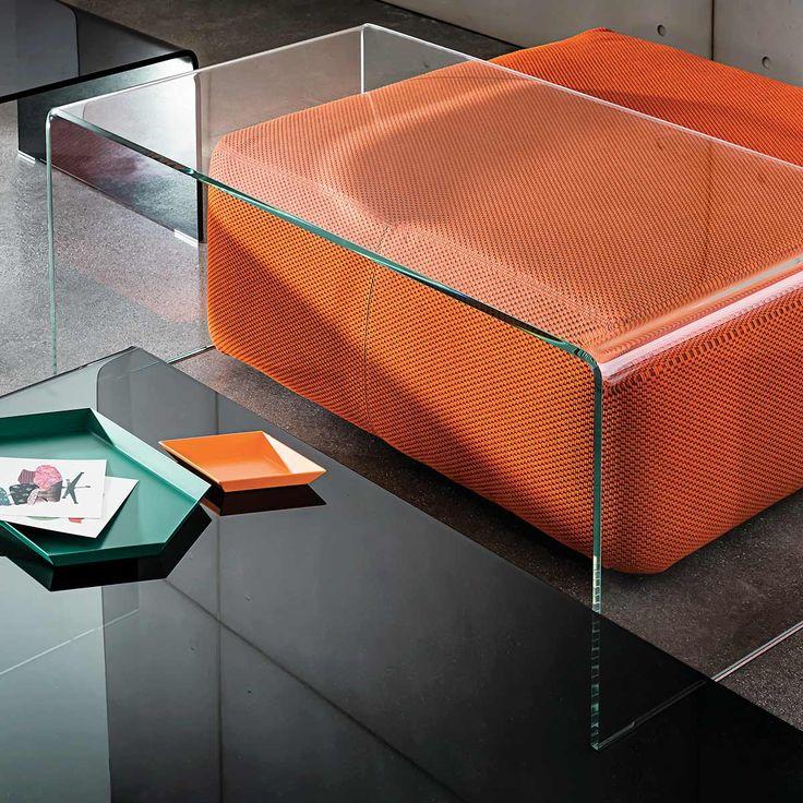 Aurelle Home Amanda Glass Top Rectangle Coffee Table: Bridge Rectangular Glass Coffee Table - Klarity
