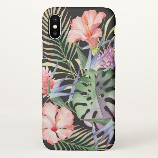 Aloha Tropical Floral Jungle Pattern iPhone X Case (affiliate)