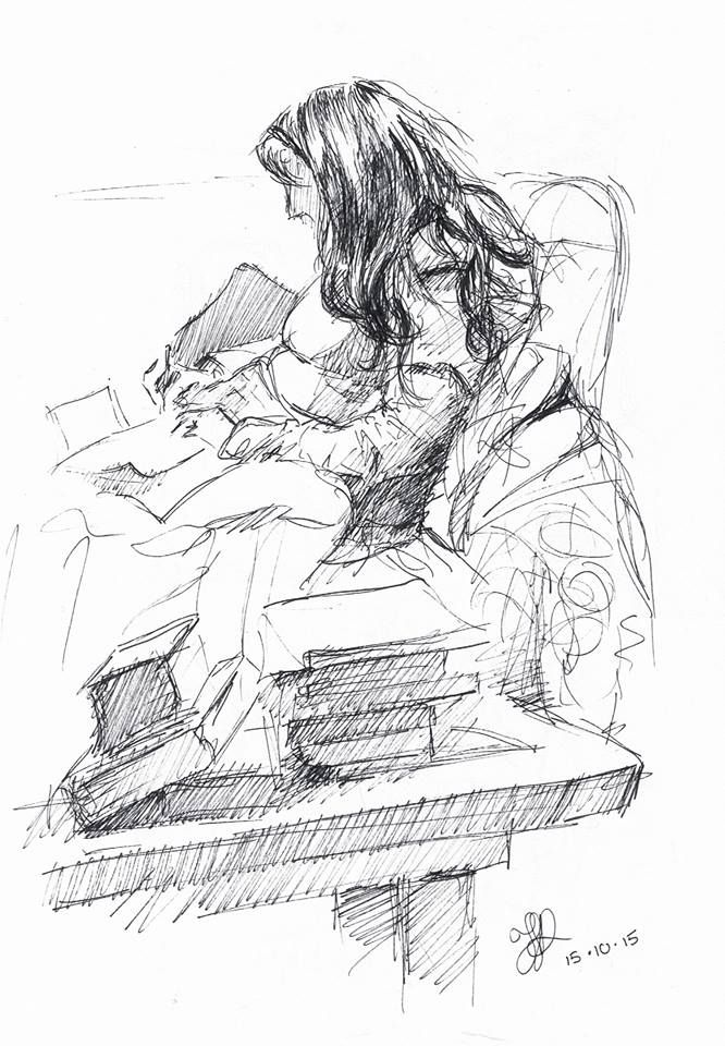 The writer. #inktober 15