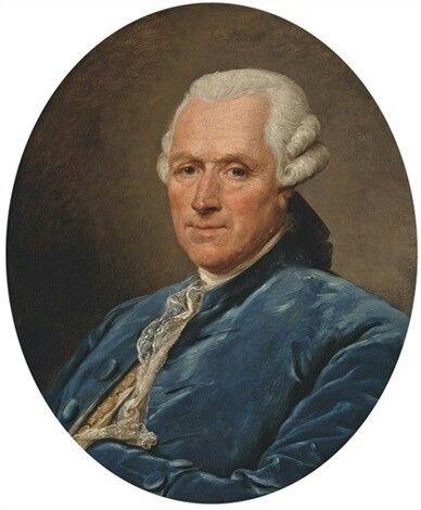 Portrait d'un homme en habit bleu, 1789 Jean-François-Gilles Colson