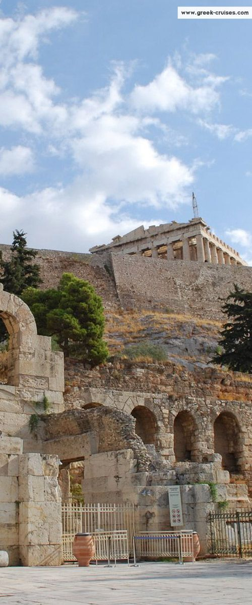 The Parthenon from the entrance of Herodion, #Athens, #Greece