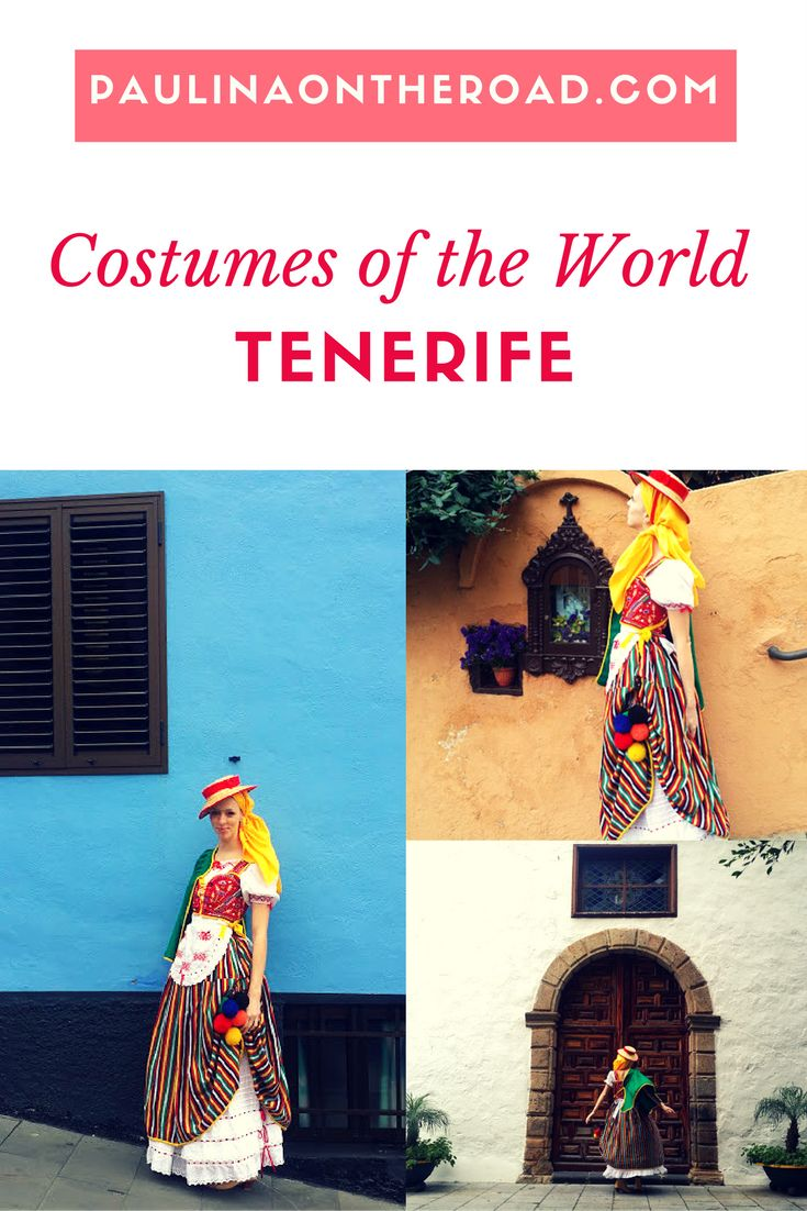 The colourful traditional dress of Tenerife island, Spain is a definitely an eye-catcher. Every town on Tenerife and other Canarian islands have their very own traditional costume which is being worn at fiestas and parties.