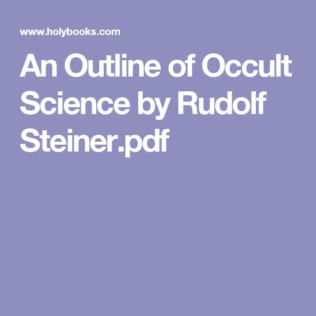 An Outline of Occult Science by Rudolf Steiner.pdf