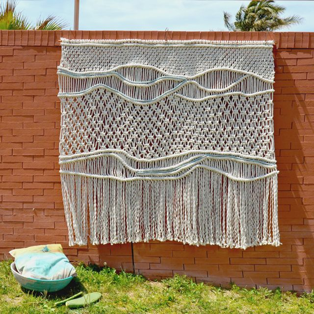 Ranrandesign #macrame headboard macrame weaving macrame