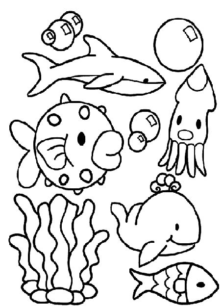 97 best images about under the sea coloring or painting for Sea creature coloring page