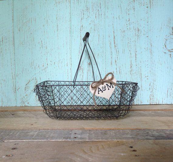 Wedding Card Basket Rustic Chic Box