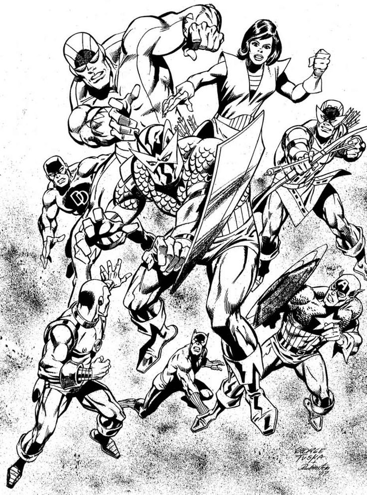 Avengers Team Coloring Pages : Best in living color images on pinterest