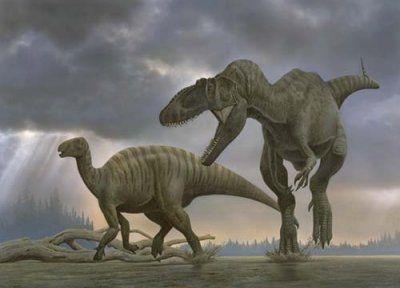 Les 5 dinosaures carnivores les plus grands: le Spinosaurus, Giganotosaurus, Mapusaurus, Tyrannosaurus rex et Carcharodontosaurus