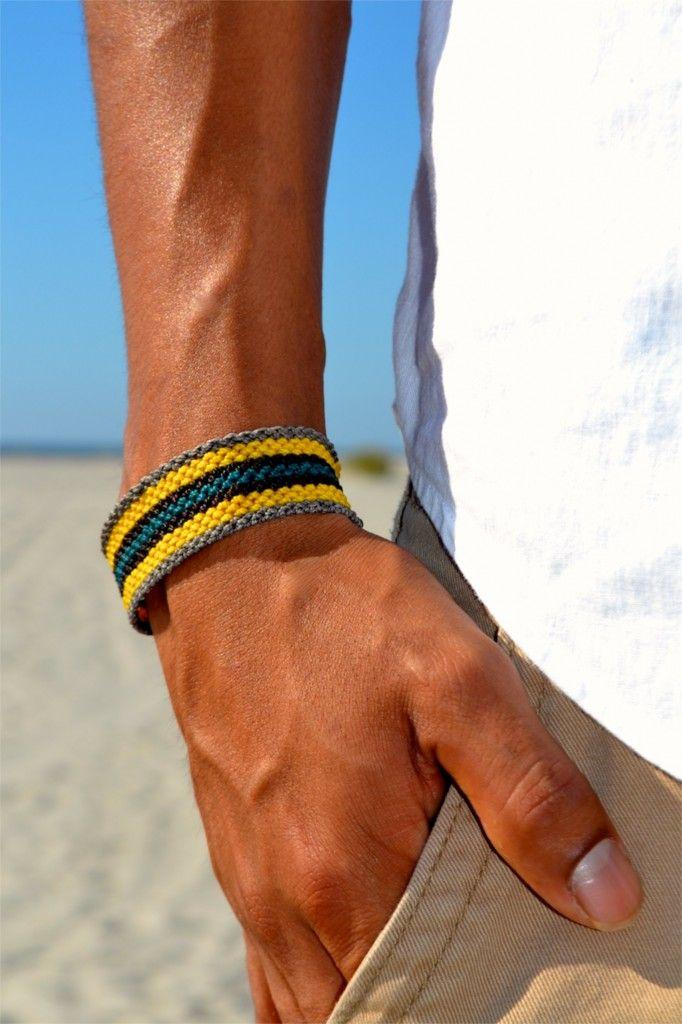 Men's Amauta Macrame Bracelet by designer Coco Paniora Salinas of Rumi Sumaq #menswear