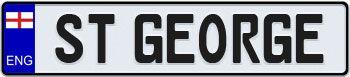 European License Plates - Custom European License Plates : England European License Plate