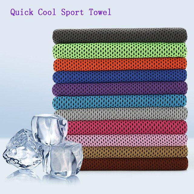 Cooling Towel Utility Enduring Microfiber Fabric Instant Cool Quick Dry Reusable Chill Face Ice Towel Review Cold