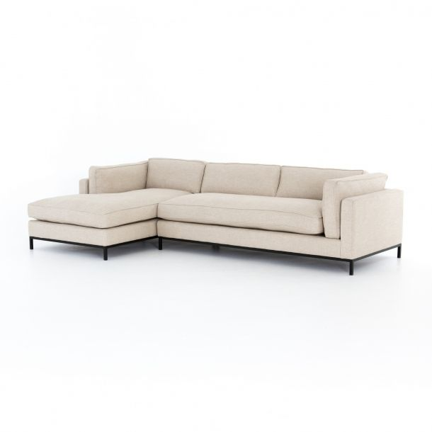 Grammercy 2 Pc Laf Sectional Oak Sand In 2020 2 Piece Sectional