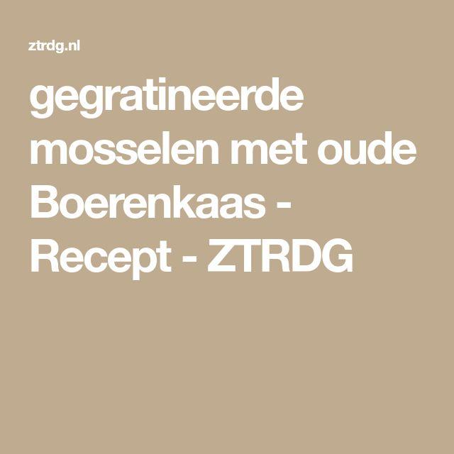 gegratineerde mosselen met oude Boerenkaas - Recept - ZTRDG