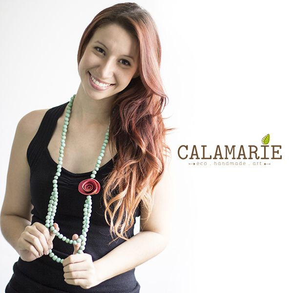 #calamarie #necklace #rose