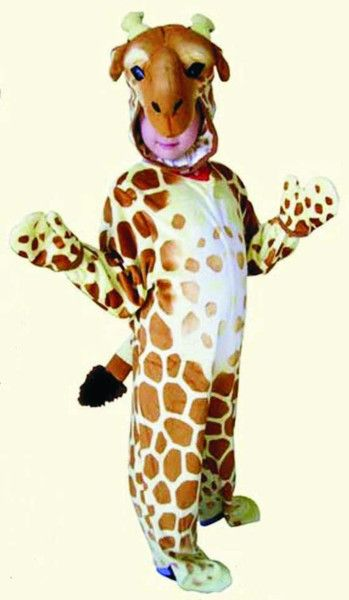 Turn your house into a zoo with this fun (and incredibly soft!) giraffe costume! Perfect for an animal themed party. Contains: 1 onesie, 1 cap/hat, 2 giraffe ho