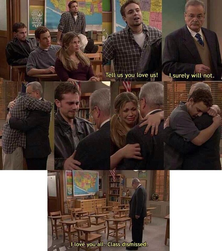 This scene ALWAYS get us. We love you Mr. Feeny. We can't wait to see you in Girl Meets World.