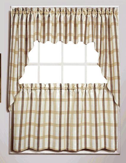 Chadwick Curtains - Beige - Lorraine - Cafe & Tier Curtains