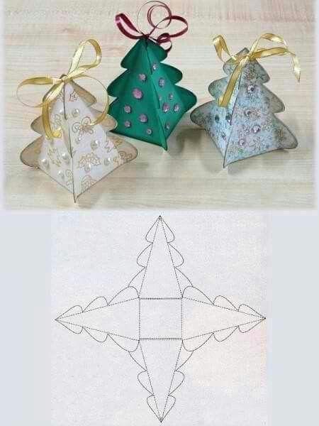 Cajitas de Arbolito de Navidad