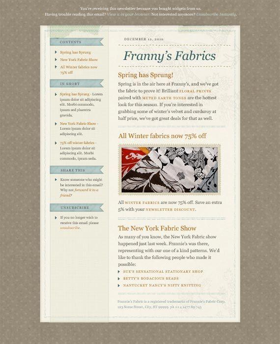 59 best images about newsletter design on pinterest