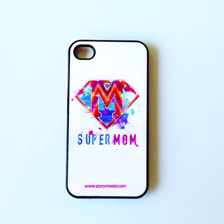 supermom iphone case  The perfect gift for mother's day or even your mother's birthday!    with original artwork by Caroline Rovithi (www.caroline.gr)    suitable for iphone 4 and iphone 5 (choose below)    13,00 €