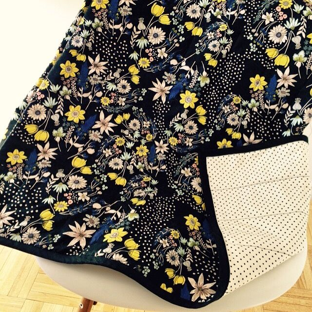 DIY throw quilt with Leah Duncan fabric