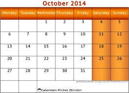 October 2014 Calendar Printable & Template http://www.calendarvip.com/october-calendar.html
