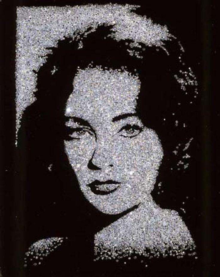 Elizabeth Taylor (pictures of diamonds) 2004 by Vik Muniz
