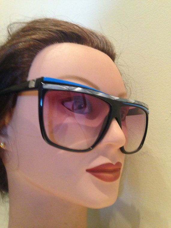Vintage 80s Oversized Women's Sunglasses By by WhiteSwanTreasures