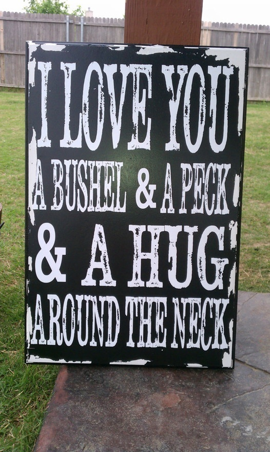 I love you a bushel and a peck, perfect gift for Mothers Day! heritagedesigns