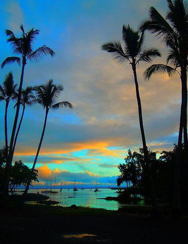Paradise Lagoon, Hilo Big Island, Hawaii パラダイスラグーン、ヒロハワイ島、ハワイ