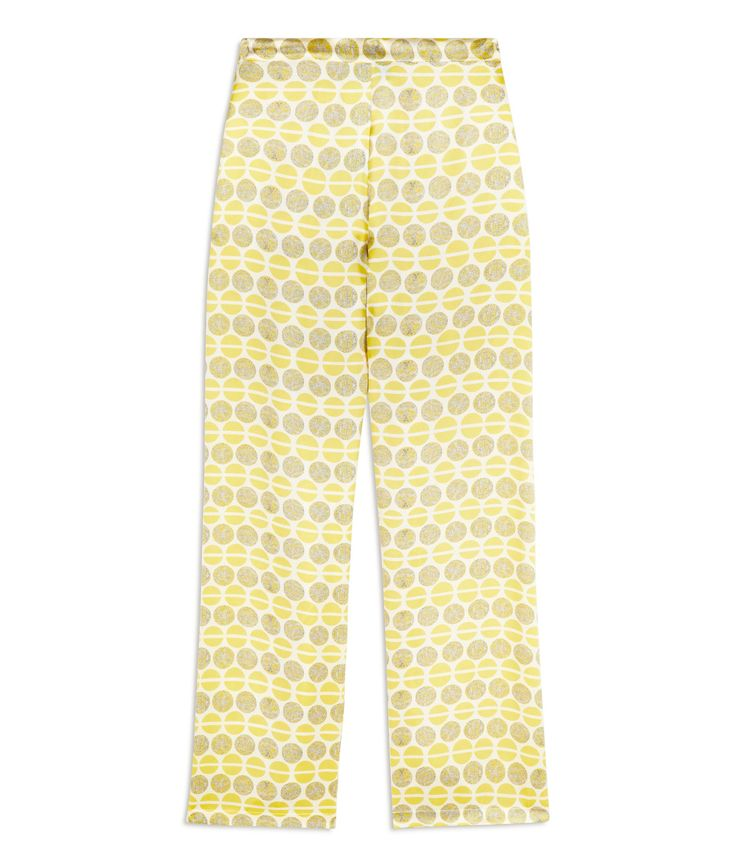 Ditsy Lacewing Silk Pyjama Trousers £260 - Yellow Silk Pyjama Trousers – because pyjamas are a luxury we can't live without. Beautifully smooth for sleeping, pure indulgence for luxury lounging and effortlessly chic for mixing with day or evening wear. Our luxuriously supple, full-length trousers skim and flatter and sit just below the waist but are not low cut. A smooth, flat fronted waistband, and softly elasticated back ensures a super flattering fit.