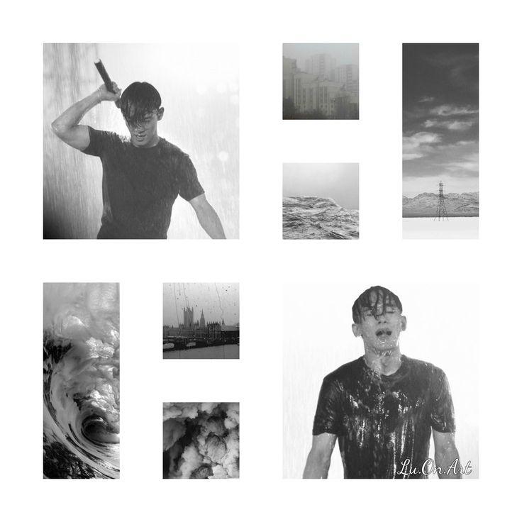 Lu.On.Art Chen EXO grey collage
