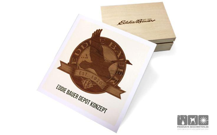 Lasergravieren Holz - Eddi-Bauer