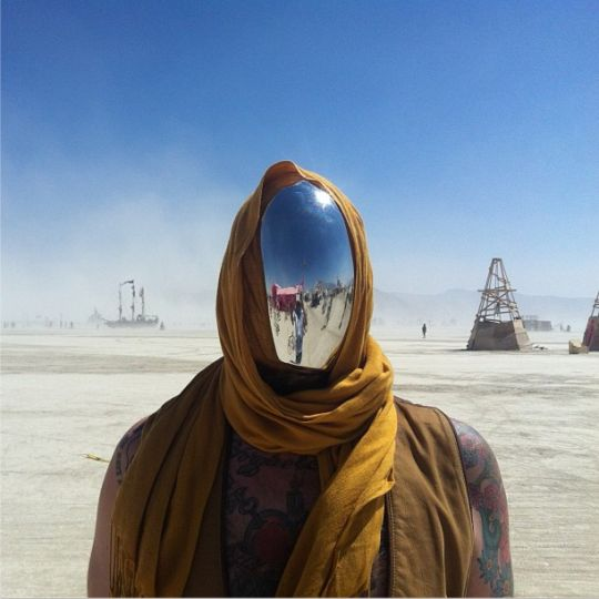 Fantasy artistic inspiration also. Burning Man 2013 Mirror face - Find on Amazon http://www.amazon.com/Disguise-Chrome-Cyborg-Halloween-Costume/dp/B007ZJRY6C