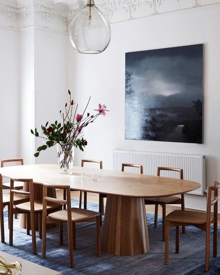 A Statement Table But With A Natural Twist We Have Seen And Loved A Lot Of These Style O Dining Room Wall Decor Dining Room Walls Australian Interior Design