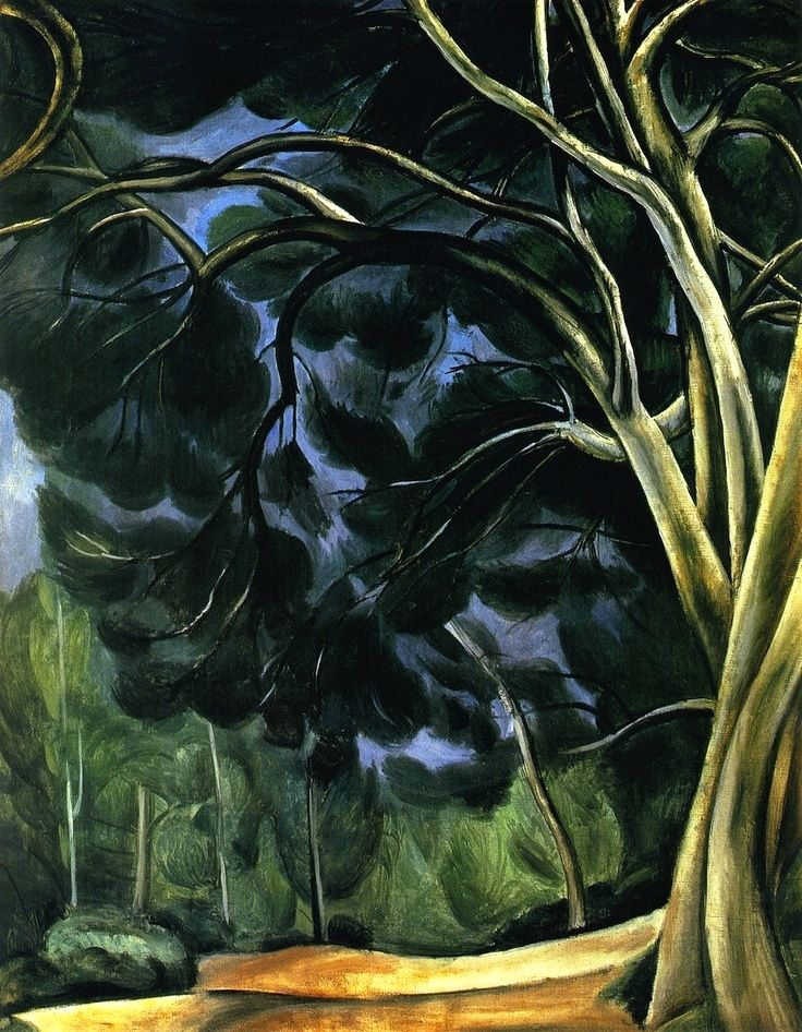 André Derain | Troncs d'arbres, c.1912. Oil on canvas. Pushkin Museum, Moscow.