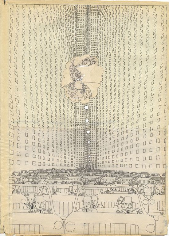 Hariton Pushwagner, from Soft City, page 98, drawings 152-165, 1969-1975